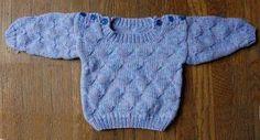 Ravelry: Bunny Hop Butterfly Stitch Baby Pullover pattern by Crystal Palace Yarns