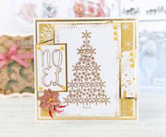 Gorgeous Christmas Card made using the @dreamees Sparkly Christmas Tree Collection. / cardmaking / papercraft scrapbooking / christmas