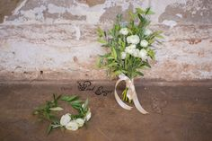 Fresh flower crown and matching bridal bouquet - rustic style with olive leaves, rosemary and white rununculus flowers. Wedding Flowers, Wedding Day, Wrist Corsage, Rustic Style, Fresh Flowers, Perfect Wedding, Flower Power, Flower Arrangements, Floral Design