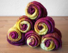 valor spinning fiber batt set  merino wool sparkle