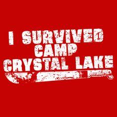 I Survived Camp Crystal Lake T-Shirt @ Textual Tees