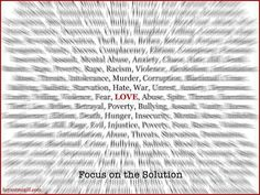 Focus on the Solution by brantmcgill #Love_Quotes #brantmcgill