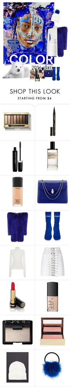 """""""winter blues"""" by izoche ❤ liked on Polyvore featuring Max Factor, Smith & Cult, Naeem Khan, Marc Jacobs, D.S. & DURGA, MAC Cosmetics, Bulgari, Yves Saint Laurent, Vetements and MSGM"""
