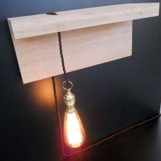 Eiken Plank Met Lamp