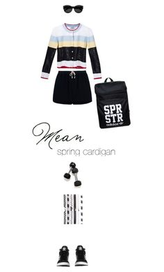 """sporty cardigan"" by francesca-belotti ❤ liked on Polyvore featuring adidas Originals, Thom Browne, Rick Owens, Yves Saint Laurent, NIKE and springcardigan"