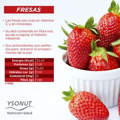 Nos encantan las #Fresas y más los #beneficios que nos aportan!