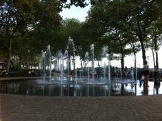 The Battery Park Fountain, One of the best places to visit on a hot day in the city...