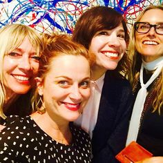 """With some friends who I love. We're all over 40. Don't call us a squad. We're a fucking coven."" - Carrie Brownstein <3"