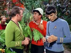 Captain we would usually classify this as an itelligent life form but in this case we might have to make an exception!) Why is Gilligan doing in there! or is Kirk & Spock marooned on Gilligan's island! Star Trek Shirt, Star Trek Tv, Star Wars, Spock, Caption Contest, Star Trek Characters, Fantasy Characters, Star Trek Original Series, Lost In Space