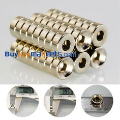 20pcs 10mm dia x 4mm thick with Countersunk Hole 4mm N35 Round Rare Earth Neodymium Magnets now is available from Buyneomagnets.com  click here:https://goo.gl/yRKAU3