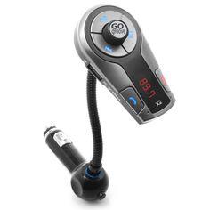 GOgroove FlexSMART X2 Transmetteur FM Bluetooth kit mains libres voiture sans fil – Avec chargeur adapteur allume-cigare et contrôle de la…