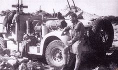 """""""Te Anau II"""" of 'T1' Patrol was the only remaining Chevrolet to survive air attack during the withdrawal from Operation Caravan. The vehicle is armed with two twin Browning machine guns."""
