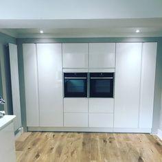 Kitchen refurbishment by Apli Construction Refurbishment, Garage Doors, Kitchens, Kitchen Cabinets, Construction, Building, Outdoor Decor, Home Decor, Restoration