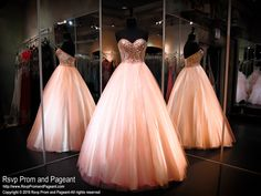 Peachy Pink Ball Gown-Strapless Sweetheart Bodice-Lace up Back-116CLAR067340 at Rsvp Prom and Pageant, your source for the hottest 2016 prom, pageant and quinceanera dresses!