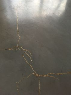 Kintsugi floors - perfect, most poetic solution to cracks Painted Concrete Floors, Concrete Art, Stained Concrete, Polished Concrete, Kintsugi, Wabi Sabi, Home Interior, Interior And Exterior, Floor Design
