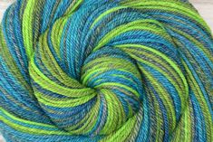 Self Striping Handspun Yarn, Worsted weight - CELESTIAL VISION - 50/50 Merino/Mulberry Silk, 254 yards, gift for knitter, weft yarn by BlackSheepGoods on Etsy