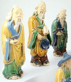 Chinese Mudmen Mud Men Man Marked China Antique Figure Mudman | eBay