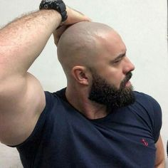 Haircuting Fetish, head shaves, High and tights and warning Bald Men With Beards, Bald With Beard, Great Beards, Long Beards, Awesome Beards, Scruffy Men, Hairy Men, Bearded Men, Beard Styles For Men