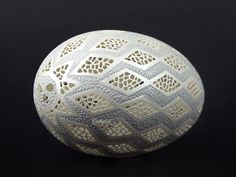 Stencils, Carved Eggs, Geometry Pattern, Egg Art, Egg Shells, Gourds, Decorative Bowls, Projects To Try, Carving