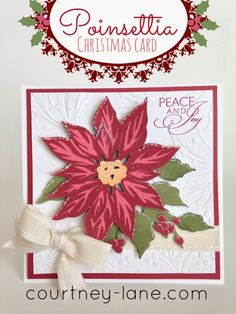 Anna Griffin Poinsettia card