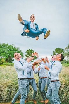 Marvelous 24 Awesome Groomsmen Photos https://www.weddingtopia.co/2018/01/22/24-awesome-groomsmen-photos/ The bride is most definitely important, but there's still another crucial portion of the marriage equation.