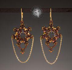 Betty Stephan (USA) Miyuki Half Tila Beads Beaded Rings, Beaded Jewelry, Handmade Jewelry, Arts And Crafts, Art Crafts, Bead Shop, Bead Weaving, Beautiful Earrings, Beading Patterns