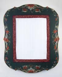 Rosemaling mirror