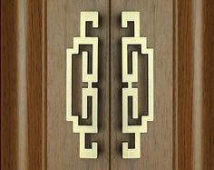 Pair of Chinese Style Antique Pulls Knobs/Symmetry Door Handles Drawer Pulls Handles/ Kitchen Cabinet Pull Handles Dresser Drawer Pull Knobs