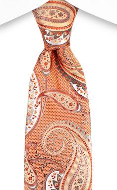 Spring 2016 Bachrach Orange Tie