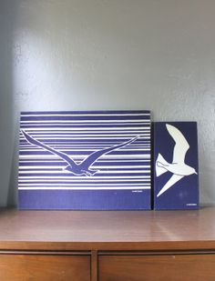 Vintage Marushka Navy Seagull Silk by ClassicCaseOfVintage on Etsy, $90.00