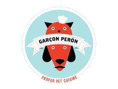 Garçon Perón Proper Pet Cuisine by Richard LaRue #identity #logo