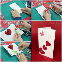 Diy Craft Projects, Diy Crafts, Ladies Day, Homemade Cards, Easy, Creative, How To Make, Handmade, Life