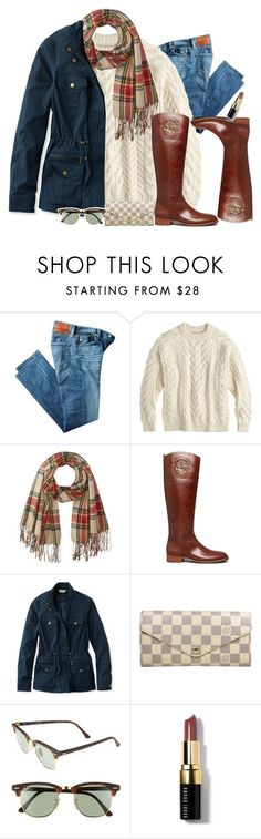 """What's your favorite season??"" by preppygirlusa ❤ liked on Polyvore featuring AG Adriano Goldschmied, J.Crew, Rampage, Tory Burch, L.L.Bean, Louis Vuitton, Ray-Ban and Bobbi Brown Cosmetics"