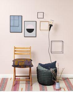 Forårsfornyelser under 500 kr. Small Shared Bedroom, Teresas Green, Rosa Rose, Wall Colors, My Dream Home, Gallery Wall, Living Room, Interior Design, Inspiration