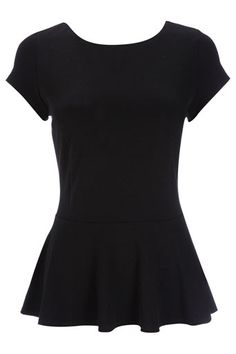 Black Cap Sleeve Peplum Top - this season's staple Stylish Clothes For Women, Black Peplum, Women's Fashion, Fashion Outfits, Wallis, Retail Therapy, Cap Sleeves, Women's Clothing, My Style