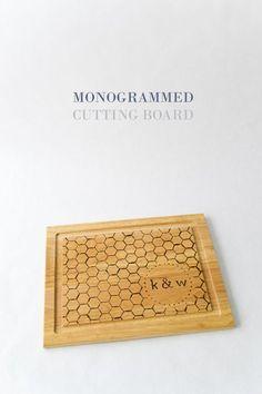 DIY Monogrammed Cutting Board