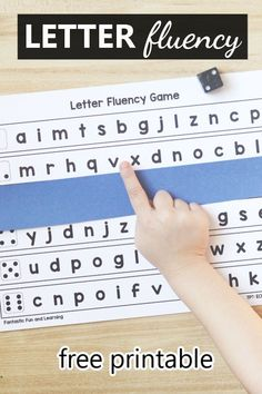 No prep free printable letter naming or letter sound fluency game for preschool and kindergarten phonics activities and reading intervention Reading Intervention Kindergarten, Preschool Reading Activities, Preschool Phonics, Phonics Reading, Free Phonics Games, Kindergarten Class, Early Literacy, Guided Reading, Teaching Reading