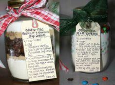 10 Christmas Cookies & Mixes in Mason Jars