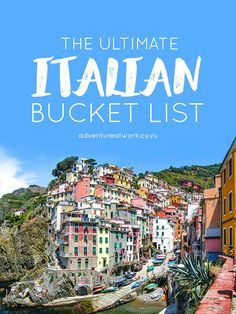 The Ultimate Italian Bucket List There is so much to see and do in Italy; with sprawling vineyards, gorgeous lakes, towering mountains, and adorable villages, it& almost impossib. Italy Vacation, Vacation Destinations, Dream Vacations, Vacation Spots, Italy Trip, Italy Honeymoon, Holiday Destinations, Maldives Honeymoon, Romantic Vacations