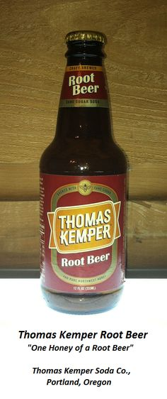 ROOT BEER REVIEW, Thomas Kemper Root Beer: Aroma is mildly rooty with a hint of clover (perhaps indicative of the northwest honey that is in the recipe).  The sweet, herbal initial flavor coats the tongue nicely, but then breaks down into an unpleasantly synthetic aftertaste.