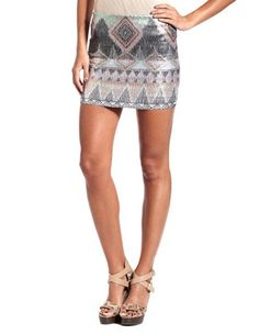 MUST HAVE! Aztec Print Sequin Skirt: Charlotte Russe