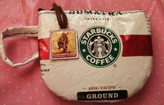 made out of starbucks coffee bag