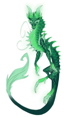 Yu'lon is a pretty dragon. Someone should make a dress inspired by her. Mythical Creatures Art, Mythological Creatures, Magical Creatures, Creature Drawings, Animal Drawings, Fantasy Dragon, Fantasy Art, Cool Dragons, Dragon Artwork