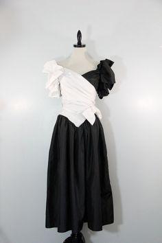 Vintage 1980s Dressy Dress wedding bridesmaid by EightiesLadies, $39.00