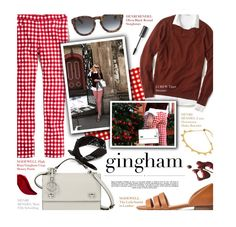"""""""Gingham - exact match"""" by federica-m ❤ liked on Polyvore featuring Madewell, Henri Bendel, Lacoste, J.Crew, Whiteley, ASOS and Kat Von D"""