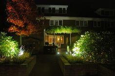 Tuinverlichting in een moderne stadstuin