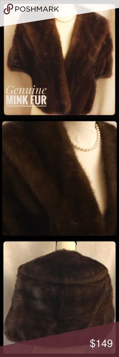 ‼️🎁SALE🎁‼️Vintage '50s Genuine Mink Fur Stole Amazingly gorgeous vintage Mink Stole in excellent condition. I did have it checked to verify the authenticity of the type of fur and it is Mink. Absolutely gorgeous piece with the front pockets and classic design. This Mink is in wonderful condition, including the lining. Fabulous! Measurements: Shoulder width 34 front Length 19.5 length back 15. This would fit a medium to large due to the open design. Still, check the length mainly to make…