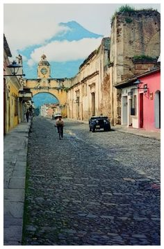Antigua, Guatemala.. I got lost there.. Smh thank god i knew where mc Donoalds was..met back up with the team!