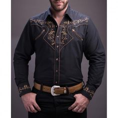 4dd9a537 Rafael Amaya SLIM FIT Embroidered Snap Western Shirts Western Shirts,  Western Outfits, Western Wear
