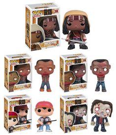 Funko POP! AMC's The Walking Dead Series 2 Complete Set of 5 (Tank Zombie, Glenn, Michonne & her Pet Zombies 1 & 2)